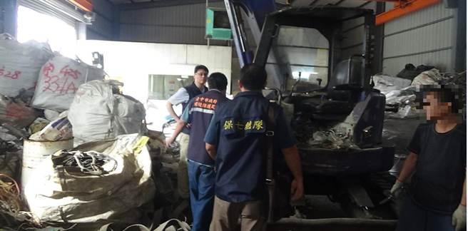 非法處理廢電纜圖利 地下工廠遭逮送辦